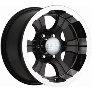 15x8 Black Wheel Devno 349 5x4 5 Jeep Wrangler Rims