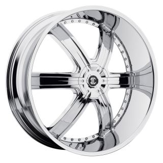 26 2Crave #4 Chrome Wheels Rims Tires Chevy Buick Impala Donk 877 955