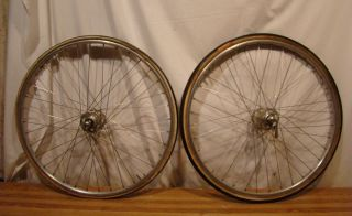 VINTAGE NORMANDY 36 HOLE HUBS SMALL WHEELS RIMS FROM VINTAGE TREK BIKE