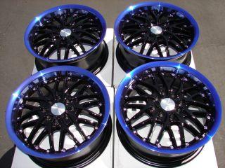 4x114 3 Blue 4 Lug Wheels Civic Accord Cooper Yaris Aveo Cobalt Rims