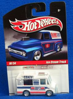 HW Hot Wheels Slick Rides Delivery 18 34 Ice Cream Truck