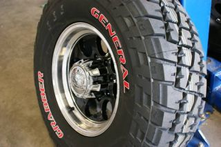 Alloy 171 Black General Grabber 285/75 Red Letter Tire 33 Wheels Rims