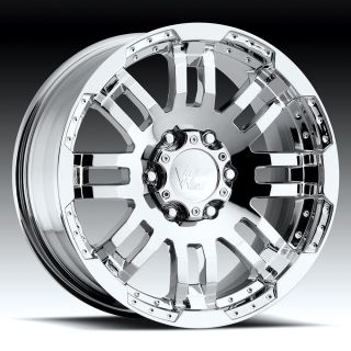 18 inch 6x5 5 Chrome Wheels Rims 6 Lug Avalanche Escalade Sierra 1500