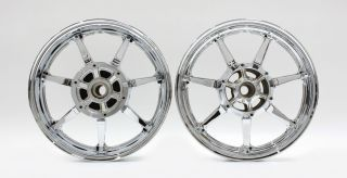 Star XVS1300 Classic Silverado Rims New Chrome Wheels Wheel Set