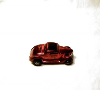 1969 Hot Wheels Original Redline Classic 36 Ford Coupe Red w Dark Int