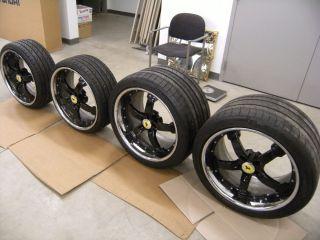 20 Black COR Concord Wheels Tires 335 30 20 245 30 20 F430