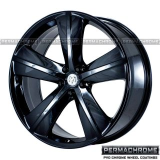 OEM DODGE CHALLENGER SRT8 BLACK CHROME WHEELS   PERMACHROME   EXCHANGE