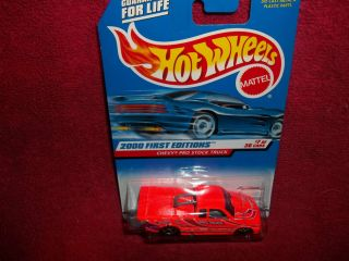 HOT WHEELS,2000 FIRST EDITION CHEVY PRO STOCK TRUCK, #7 OF 36,NEW ON