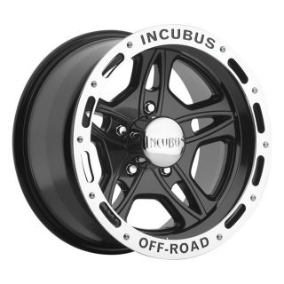 15 inch Incubus 511 Black Wheels Rims Ford Ranger 5x4 5