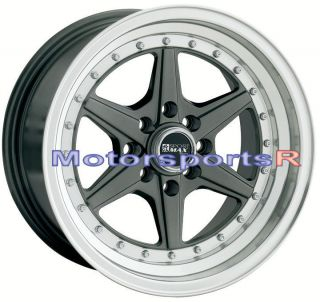 15 15x8 XXR 501 Gun Metal Wheels Rims Deep Lip 4x100 90 91 95 00 05