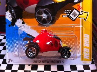 2012 Hot Wheels Red BirdAngry Birds $$Red$$ New Release Hot