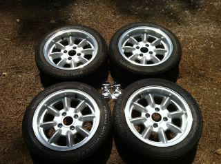 Panasport Racing Wheels with Pirelli Tires 15x7 4x114.3 Mazda, Toyota