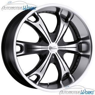 Milanni Stellar 5x115 5x139 7 5x5 5 18mm Black Machined Wheels Rims 17