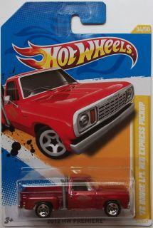 2012 Hot Wheels Premiere 78 Dodge LiL Red Express Pickup 34 50