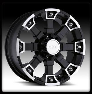 Brutal Black Machined 17 inch 5x135 Ford F150 Wheels 17x8 Rims