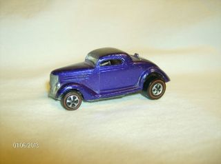 Very Rare vintage 1969 Hot Wheels Redline Classic 36 Ford Coupe Purple