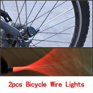 2pcs Hot Wheels Night Cycling Bike Strip Bicycle Spoke Steel Wire LED