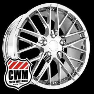 18x9.5 Corvette C6 ZR1 Style Chrome Wheels Rims for Corvette C5 2000