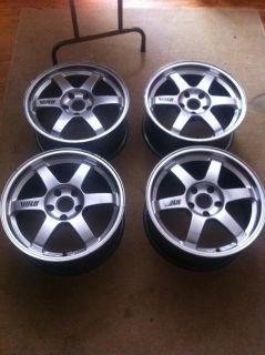 RAYS VOLK TE37 Wheels 5x114 5x114.3 s2000 RSX EVO STI RX7 JDM MR2 NO