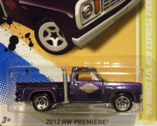 Hot Wheels 2012 78 Dodge LiL Red Express Pickup HW Premiere 34 247