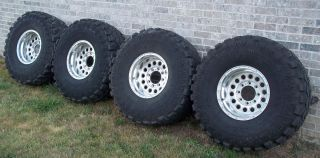Super Swamper TSL Radial Tires 38x15 50x16 and Eagle Alloy Rims