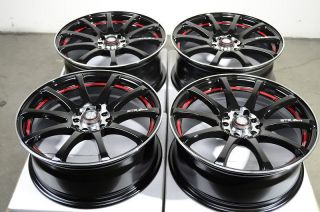 Black Wheels Lexus Prelude Cavalier Eclipse Red MR2 5 Lug Rims