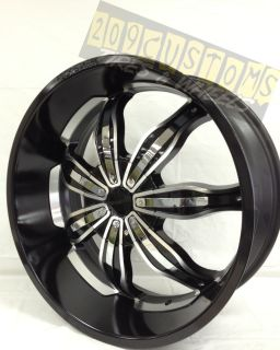 24 inch Rims Wheels and Tires RW129 5x127 Fleetwood 1992 1993 1994