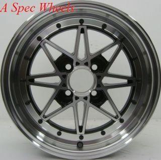 16x7 Rota SA Racing Wheels 4x100 Rims ET40MM Fits 4 Lug Civic CRX
