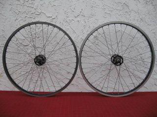 24 36h BMX Black Rims Wheelset w/ Redline Hubs Flip Flop AlexRims