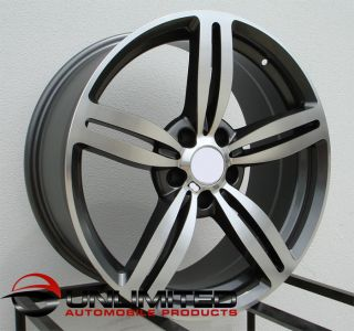 18 M6 Style Staggered Wheels Rims Fit BMW E46 M3 2001 2006