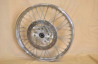 Harley 21 Front 40 Spoke Wheel Wide Glide Softail Dyna 3 4 Axle FXWG