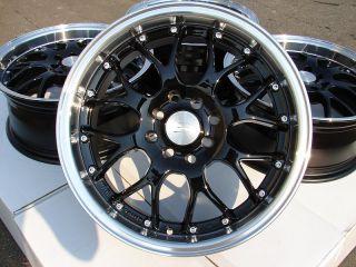 16 Effect Wheels Black Rims 4x100 4x114 3 Lancer Scion Xa Xb MR2 Yaris