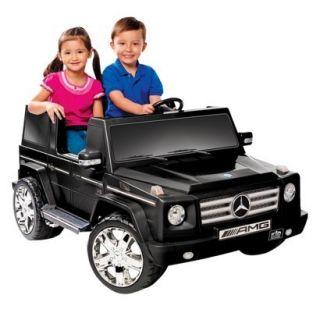 Volt Battery Power Mercedes Benz G Class Ride On Black w Chrome Wheels