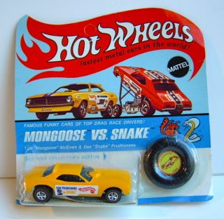 1969 Hot Wheels Don Prudhomme The Snake Blister Unpunched