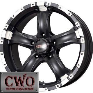 15 Black MB Chaos 5 Wheels Rims 5x4 75 5 Lug s 10 Sonoma Blazer Trans