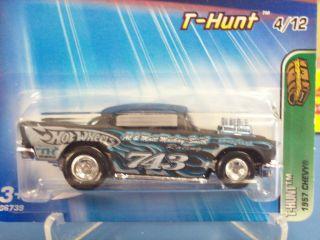 2005 Hot Wheels Treasure Hunt 1957 Chevy w Chrome Rims