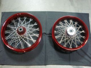 Black Bike Spoke Wheels for Harley Davidson Models New