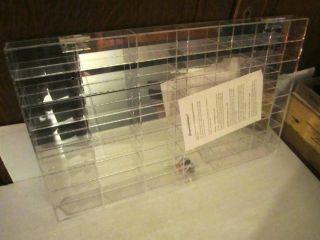 Plastics Inc Clear Acrylic 48 bay Display Case Hot Wheels Matchbox Car