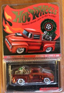 2011 Hot Wheels RLC Custom 56 Ford F 100 Holiday Pickup w Cycle
