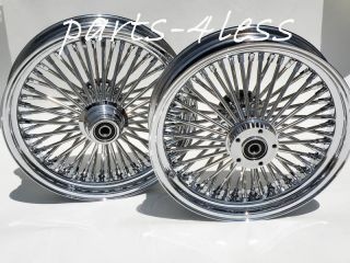 FATDADDY FAT 50 SPOKE HARLEY DAVIDSON WHEELS SET 4 FAT BOY FLST FLSTF