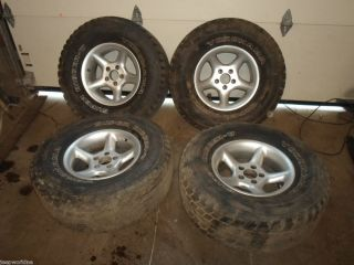 Jeep Wrangler YJ TJ 31X1 50 R15 tires rims wheels set of 4 bolt
