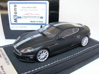 43 Tecnomodel Aston Martin DBS Coupe Matte Black Silver Wheels