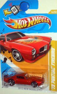 Pontiac Firebird Trans Am 2012 Hot Wheels New Model 12 50 Red