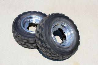 polished front tires aluminum wheels rim Yamaha Banshee YFZ450 RAPTOR