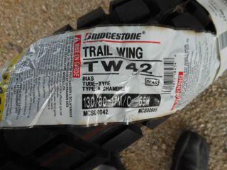 New Bridgestone Trail Wing 130 80R 17 Rear Motorcycle Tire Only