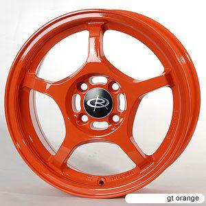 15 Rota Attack Orange Rims Wheels Integra Miata Civic