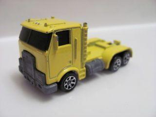 Hot Wheels 1986 Semi Truck Yellow Loose RARE