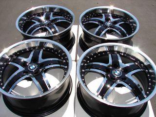 Effect Wheels Black Polished 740 550 840 545 530 M6 BMW M5 5 Lug Rims