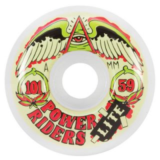 OJ III Wheels Power Rider Lites 59mm 101A White Skateboard Wheels