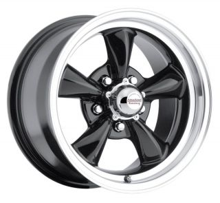 15 inch 15x7 Black Wheels Fit Chevy 150 210 53 57 5x4 75 Lug Pattern